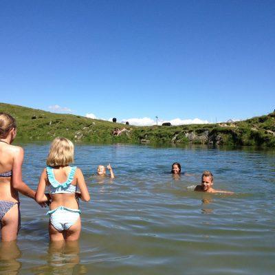 Zwemmen in de Lusger see op de Belalp