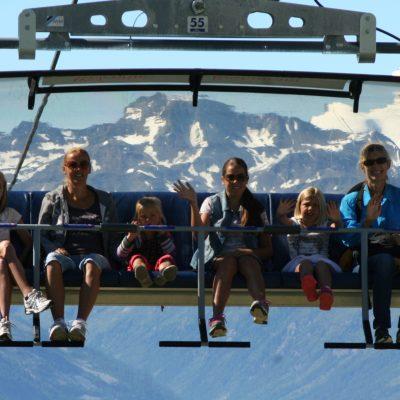 Met de 6 perso lift van de Belalp aar de Sparrhorn.